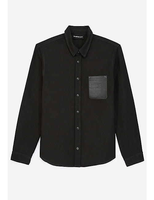 THE KOOPLES: Patch-pocket long-sleeved cotton-canvas shirt