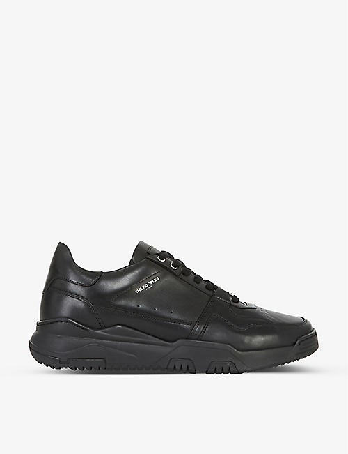 THE KOOPLES: Chunky-soled leather trainers