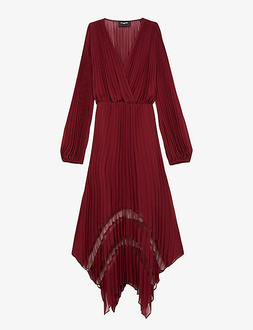 THE KOOPLES: Pleated crepe maxi dress