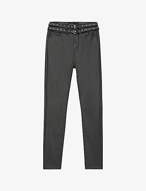 THE KOOPLES: Skinny faux-leather jeans