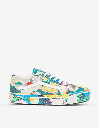 VANS: Vans x Kenzo Old Skool graphic-print canvas and leather trainers