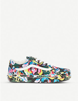 VANS: Vans x Kenzo graphic-print canvas and leather trainers