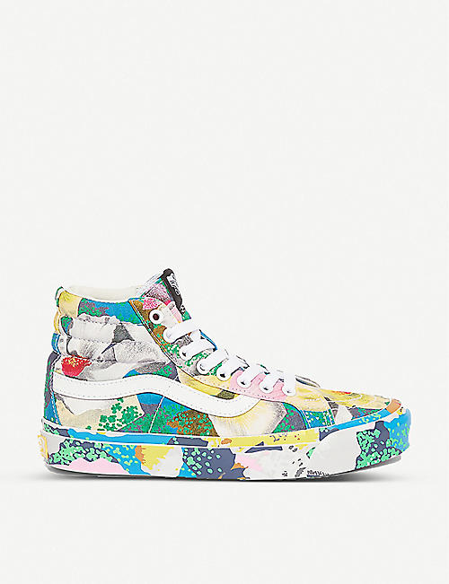 VANS: Vans x Kenzo Sk8-Hi floral-print cotton-canvas high-top trainers
