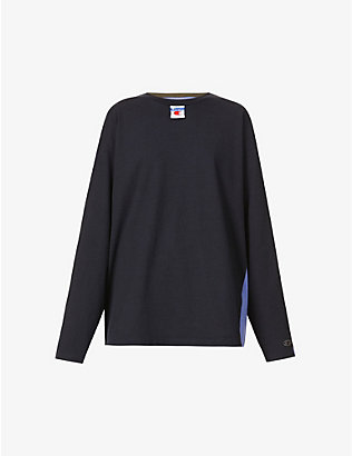CHAMPION: Champion x Craig Green graphic-print cotton-jersey top
