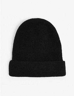 ISABEL BENENATO: Ribbed wool-blend beanie hat