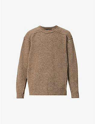 ISABEL BENENATO: Long-sleeved crewneck wool-blend jumper