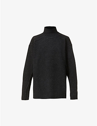 ISABEL BENENATO: Long-sleeved turtleneck merino wool-blend jumper