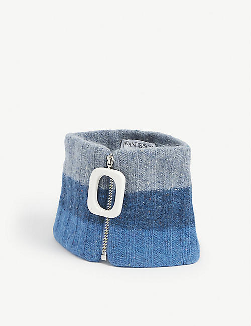 JW ANDERSON: Zip-detail wool and mohair neckband