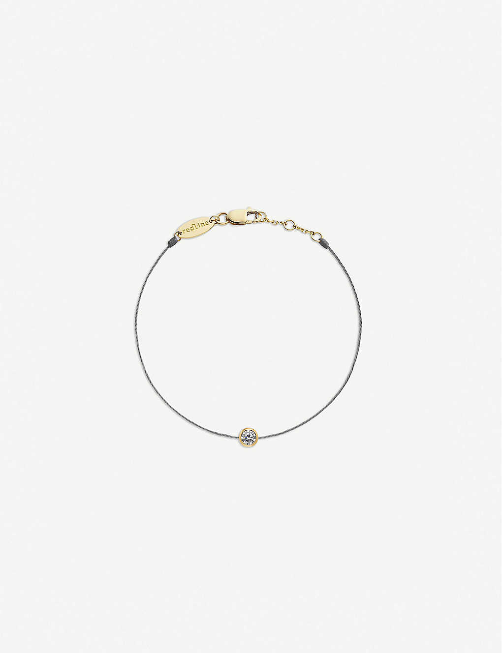 THE ALKEMISTRY: Redline 18ct yellow-gold and diamond thread bracelet