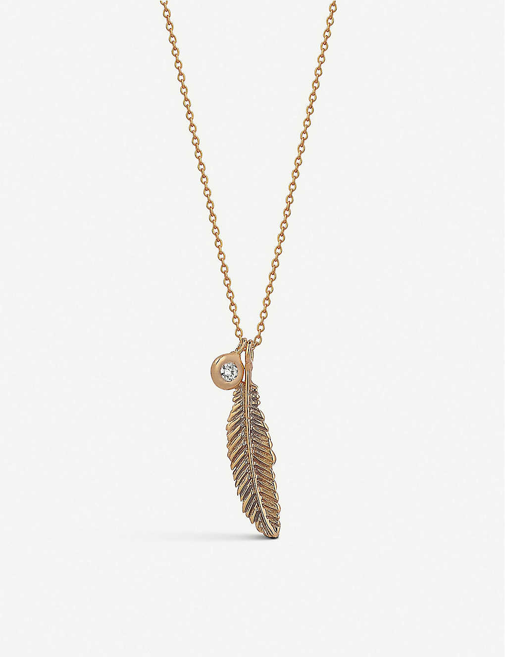 THE ALKEMISTRY: Kismet by Milka Raven 14ct rose-gold and diamond necklace