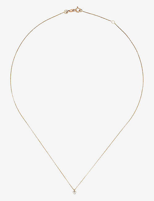 THE ALKEMISTRY: Kismet 14ct rose-gold and diamond heart necklace
