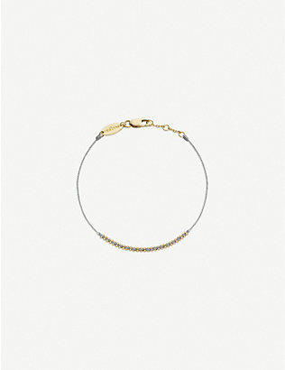 THE ALKEMISTRY: Redline Eclipse 18ct yellow-gold and silk-thread bracelet