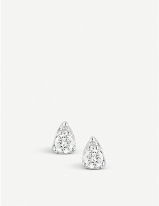 THE ALKEMISTRY: Dana Rebecca Sophia Ryan 14ct white-gold and diamond stud earrings