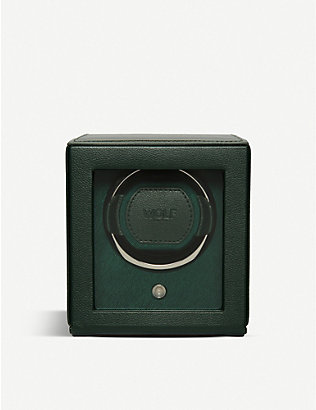 THE ALKEMISTRY: WOLF Cub vegan-leather single watch winder