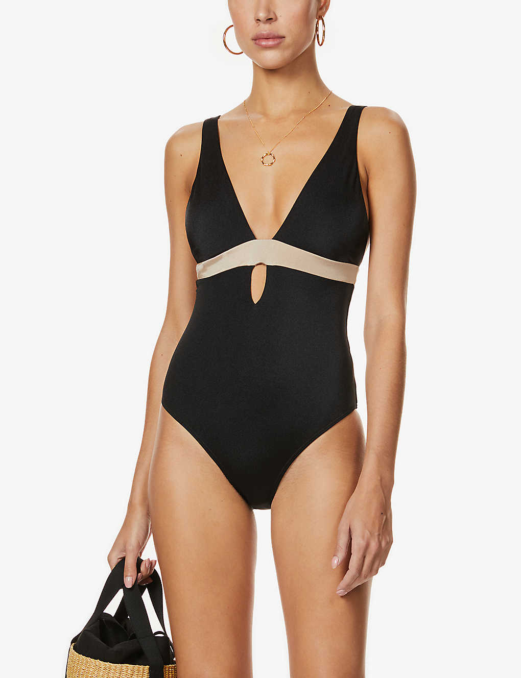 JETS BY JESSIKA ALLEN: Synergy plunge swimsuit