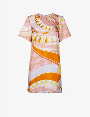 EMILIO PUCCI: Printed silk mini dress