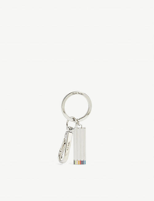 PAUL SMITH: Artist Stripe engraved keyring