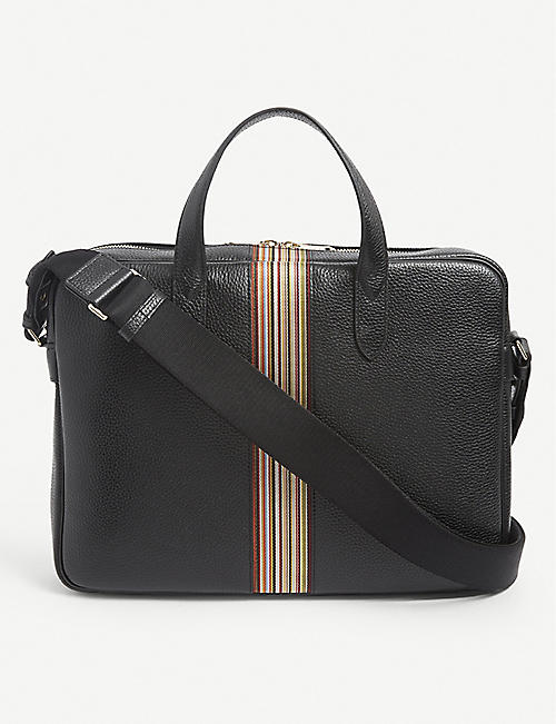 PAUL SMITH: Artist Stripe leather satchel
