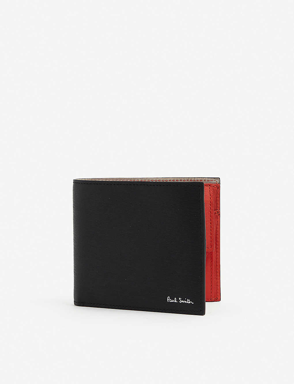 PAUL SMITH: Signature-print leather wallet