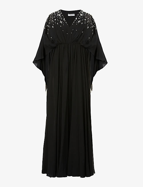GIVENCHY: Sequin-embellished silk gown