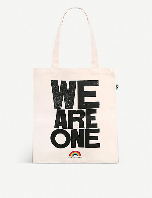 KURT GEIGER LONDON: We Are One organic cotton tote bag
