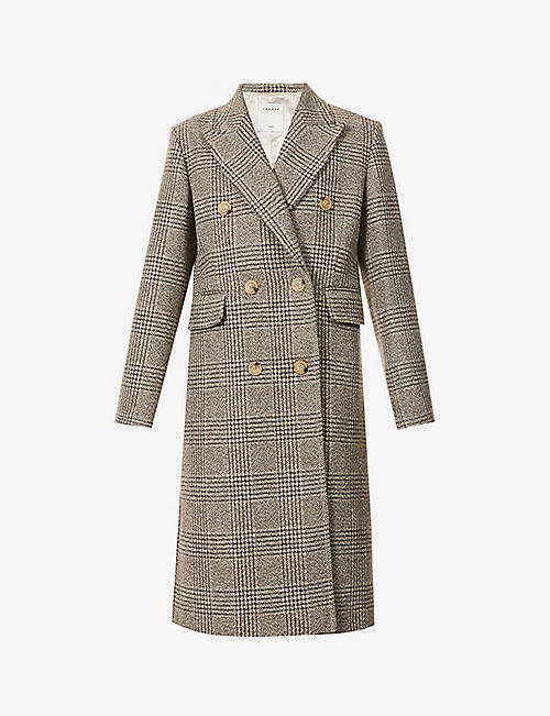 SANDRO: Laina double-breasted wool-blend coat