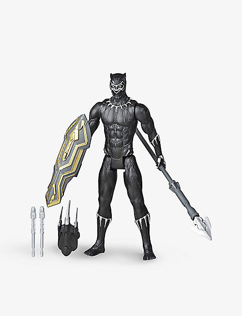 MARVEL AVENGERS: Titan Hero Black Panther Blast Gear Launcher action figure 30cm