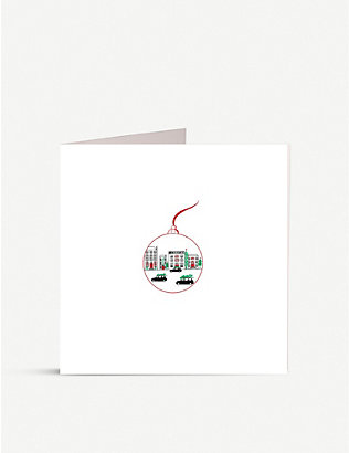 JULIE BELL: Pack of 10 Town And Taxis Christmas greetings cards 14.8cm x 14.8cm