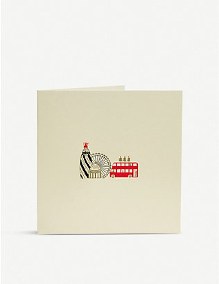 JULIE BELL: London Skyline engraved Christmas card pack of 10