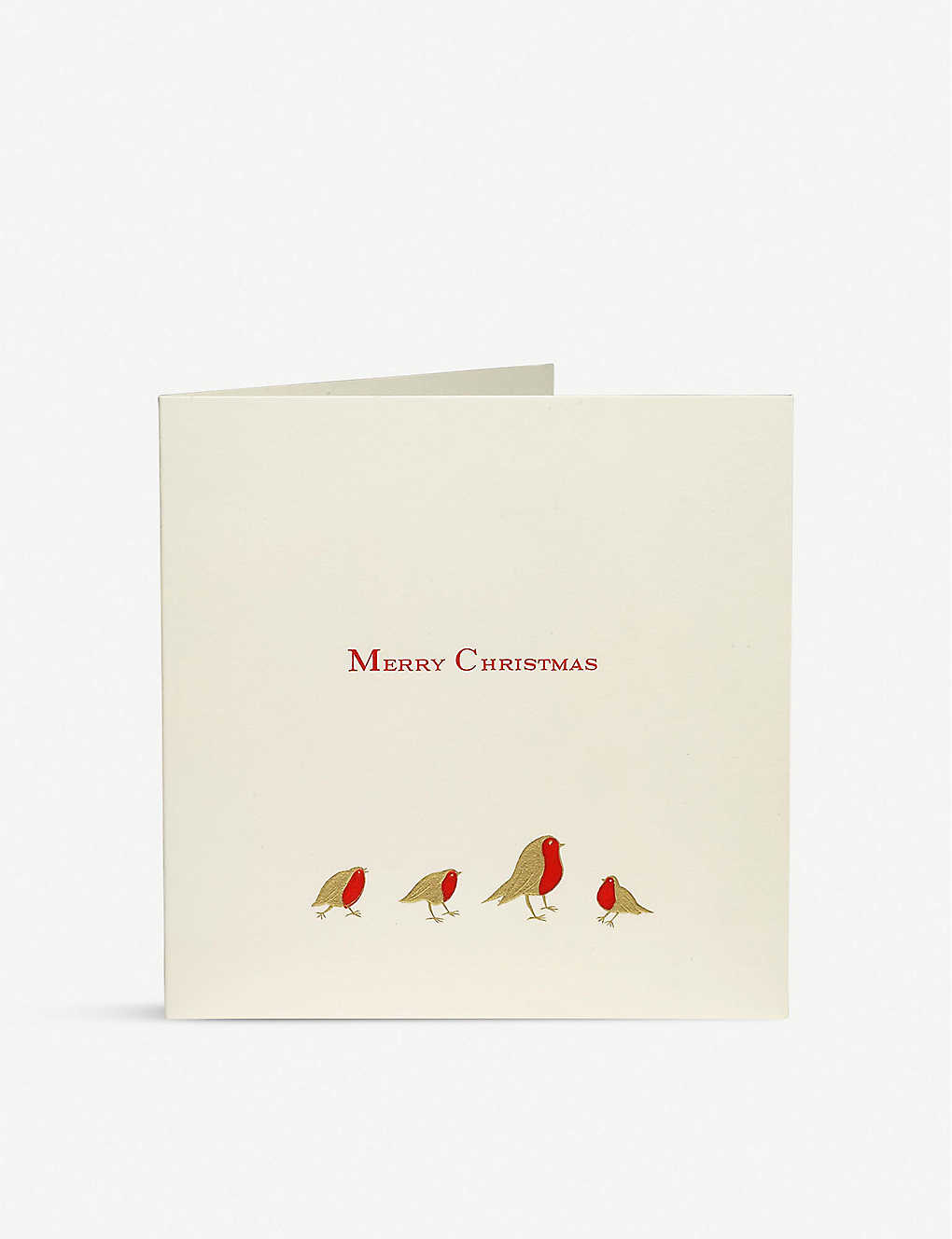 JULIE BELL: Robin engraved Christmas cards pack of 10