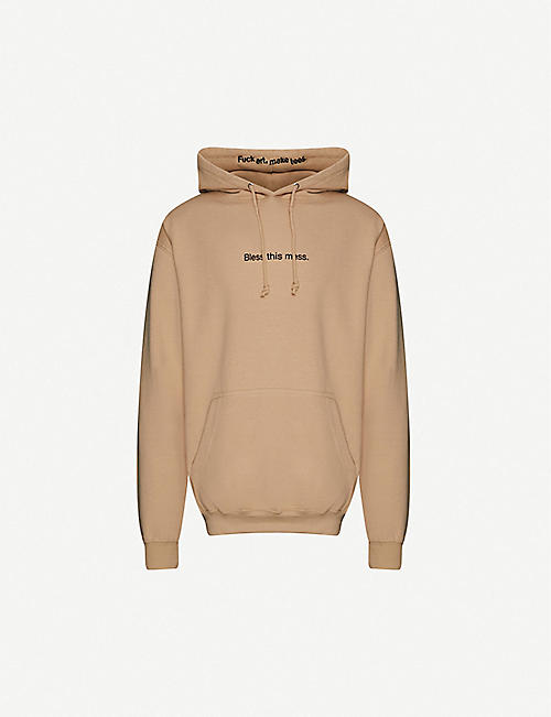 FAMT: Bless This Mess cotton-jersey hoody