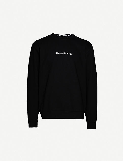 FAMT: Bless This Mess cotton-jersey sweatshirt