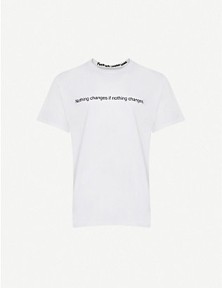 FAMT: Nothing Changes cotton-jersey T-shirt
