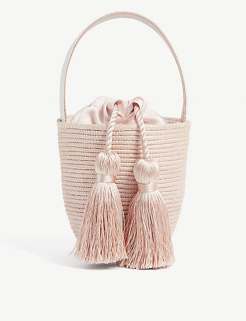 CESTA COLLECTIVE: Party Pail mini sisal bucket bag