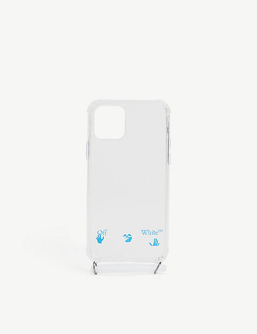 OFF-WHITE C/O VIRGIL ABLOH: Logo-print iPhone 11 Pro case with strap