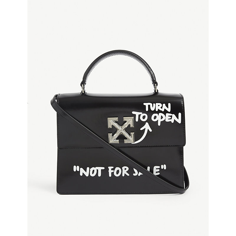 Off-White Leathers JITNEY 2.8 LEATHER TOP HANDLE BAG