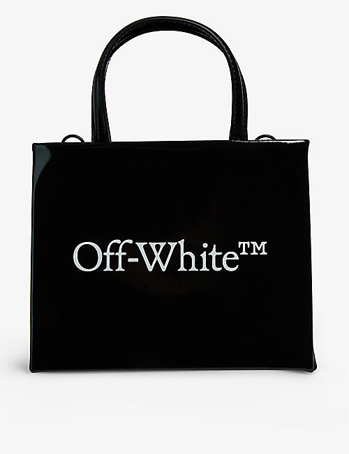 OFF-WHITE C/O VIRGIL ABLOH: Box mini patent leather tote bag