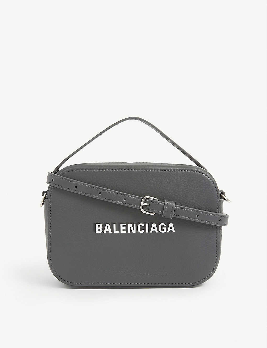 BALENCIAGA: Everyday leather camera bag