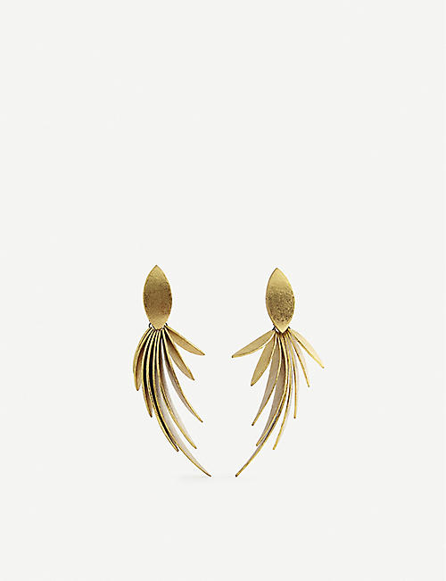 MONIES: Cordoba gold-foiled earrings