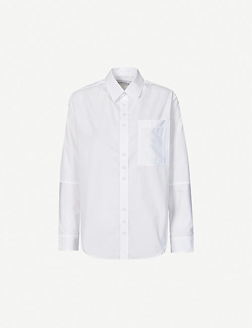 RILEY STUDIO: Classic loose-fit organic-cotton shirt