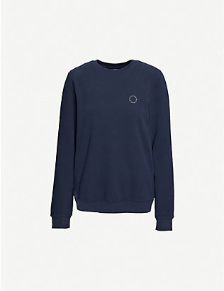 RILEY STUDIO: Created From Waste-printed recycled cotton-blend sweatshirt