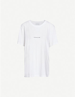 RILEY STUDIO: Human Kind recycled and organic cotton T-shirt