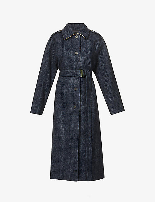 FRENKEN: Love belted wool-blend coat