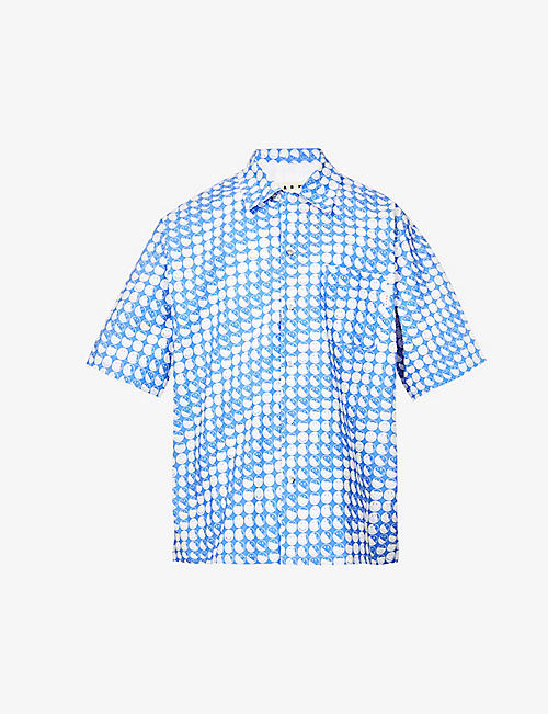 MARNI: Graphic-print cotton shirt