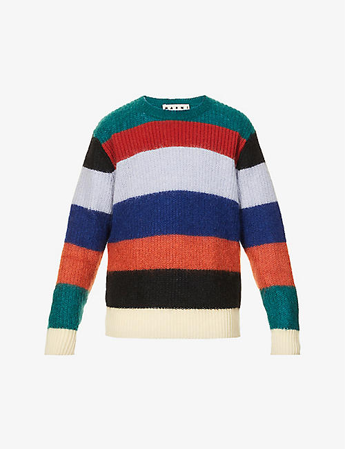 MARNI: Striped mohair-blend jumper