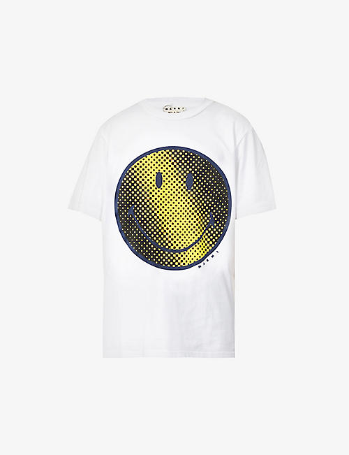 MARNI: Smile graphic-print oversized cotton-jersey T-shirt
