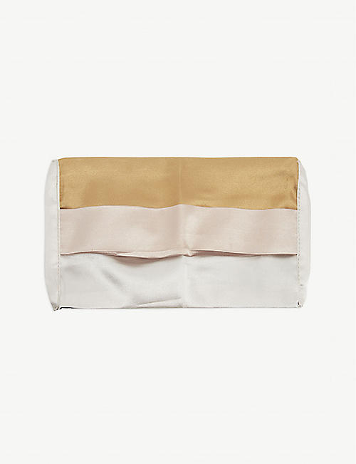 EUGENIA KIM: Pleated satin face covering