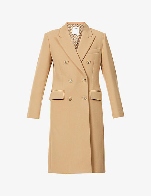 SANDRO: Bayane double-breasted wool-blend coat