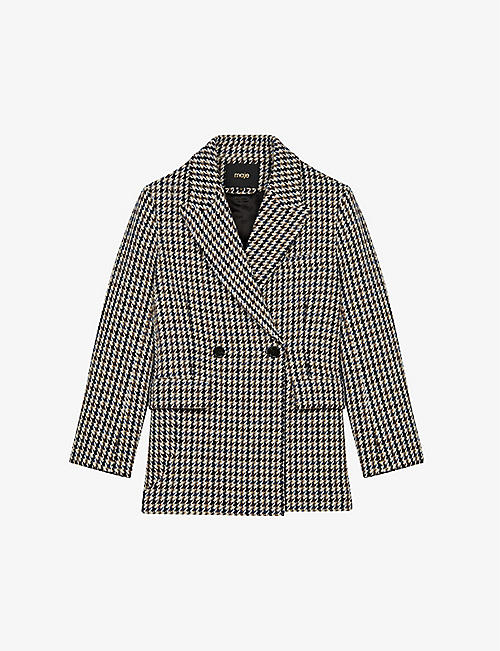 MAJE: Golda double-breasted wool-blend jacket