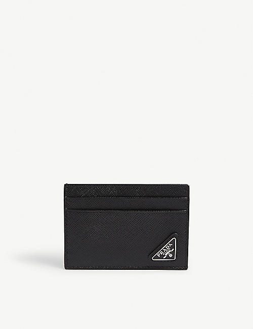 PRADA: Saffiano leather card holder